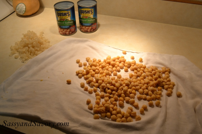 Garbanzo Bean peeling